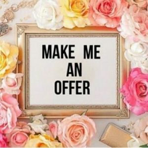All reasonable offers are accepted